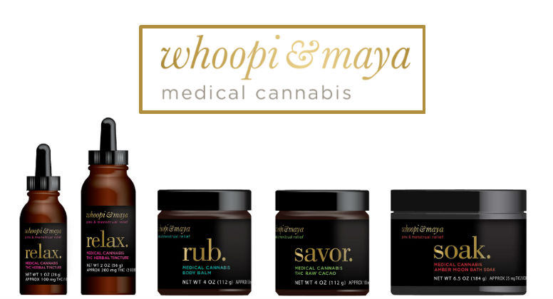 whoopi & maya medical cannabisのロゴ